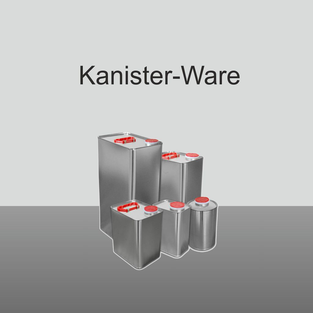 Kanisterware für Epoxi, Epoxidharz, PU, Grundierung, Beschichtung, Versiegelung, Bindemittel, Harz, Verdünnung, Reiniger
