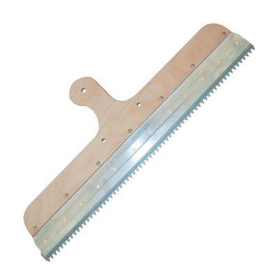 Rakel mit Klemmleiste ohne Stielhalter zur Aufnahme von Zahnleisten