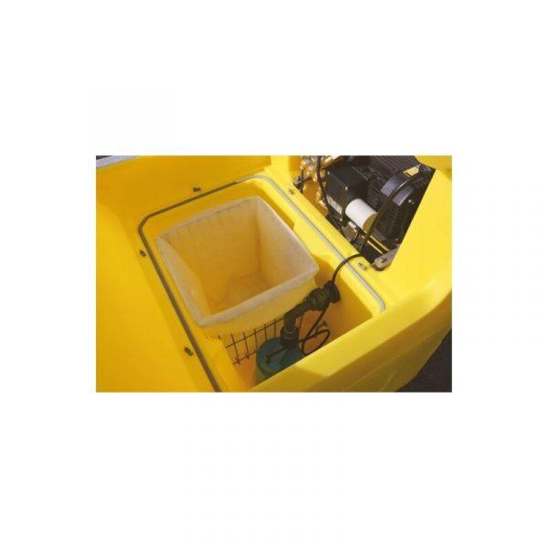 Waschbecken Detailbild Edelstahlkorb mit Filtereinsatz