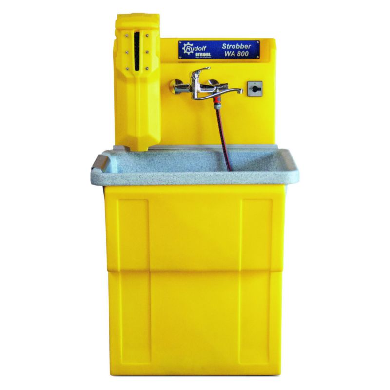 Waschbecken WAW 800 mit Walzenreiniger
