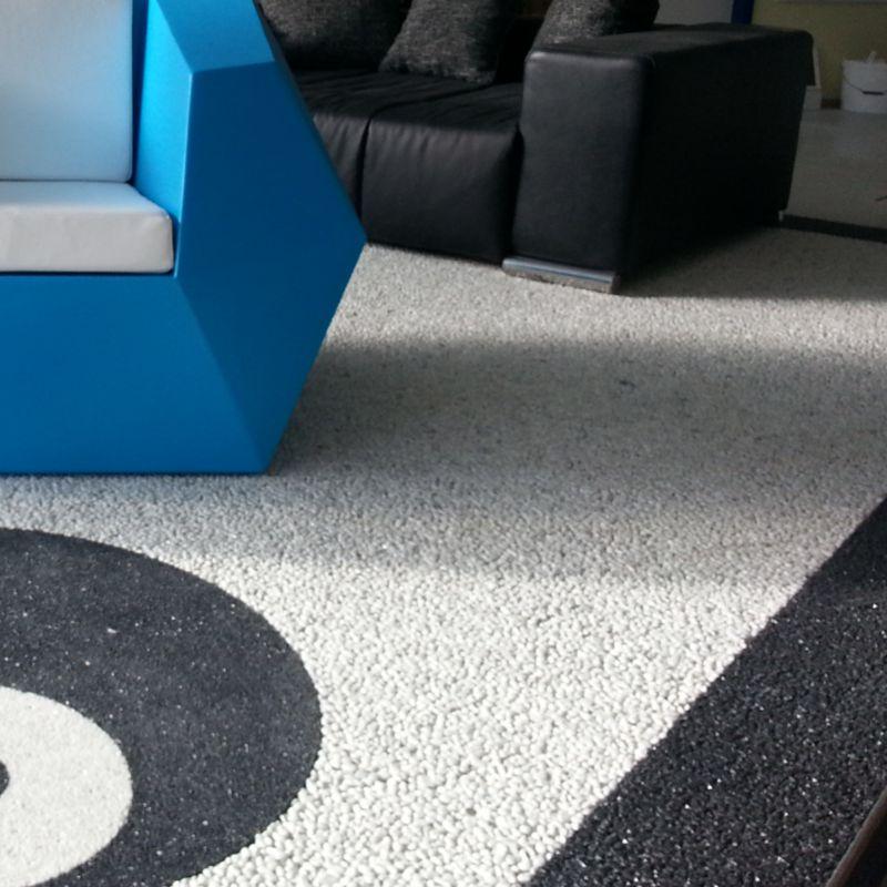 Fachgerecht Steinteppich verlegen Detailbild mehrfarbig